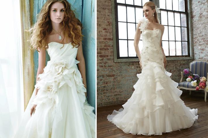 Свадебное платье с воланами