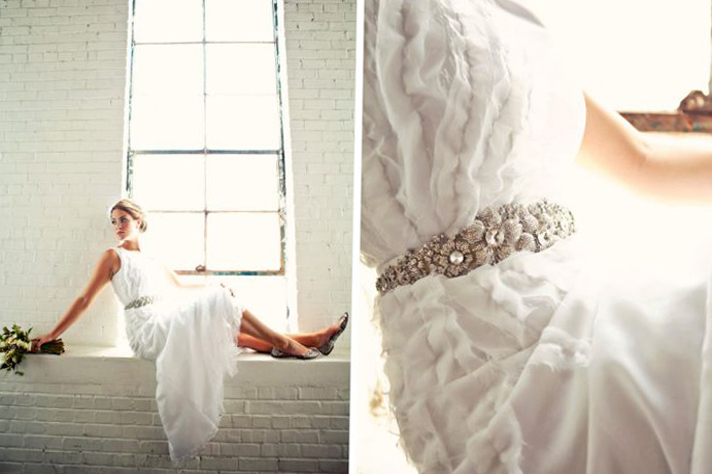Свадебное платье в оборках