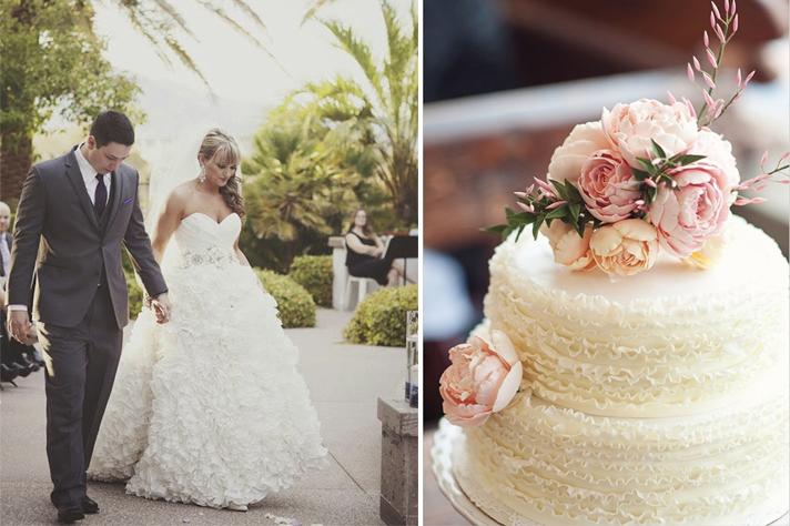 Свадебное платье в рюшах